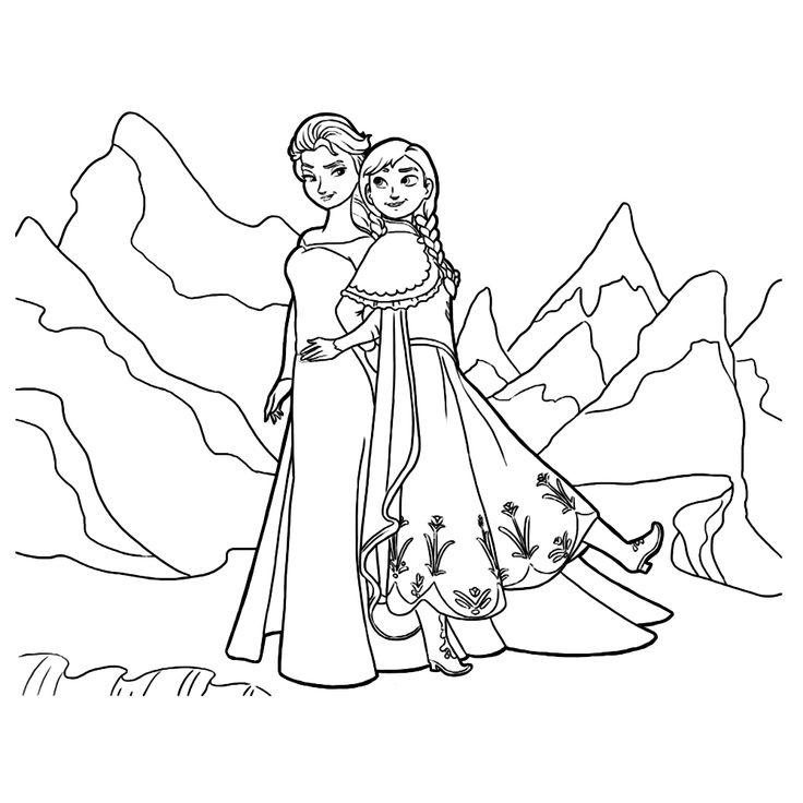 Kleurplaat Elsa En Anna Verjaardag Leuk Voor Kids Kleurplaat Elsa En Anna Liesje Frozen