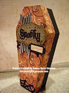 GIRLplusPAPER: A Spooky Coffin - CTMH Artiste Cricut Cartridge