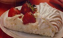 TRADITIONAL PAVLOVA - Yummy dessert - very Australian whether served at BBQ's, suppers or formal dinners - always a firm favourite. Should be soft in the centre with a crisp crunchy crust filled with whipped fresh cream and any fruit of choice.