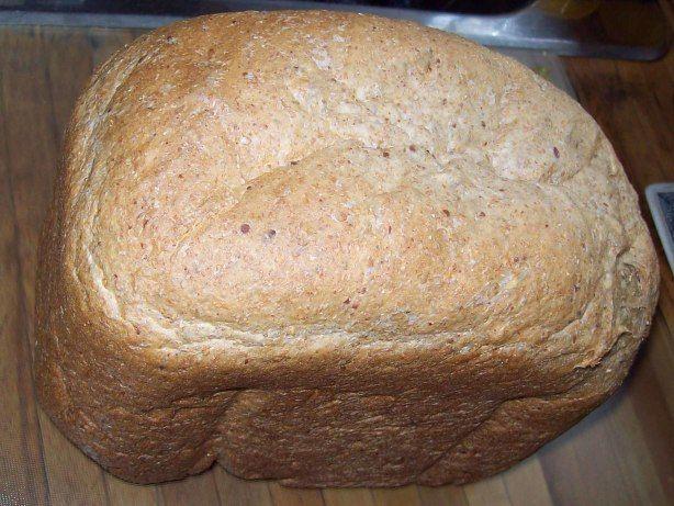 Whole Wheat, Flax & Honey Bread Machine Bread