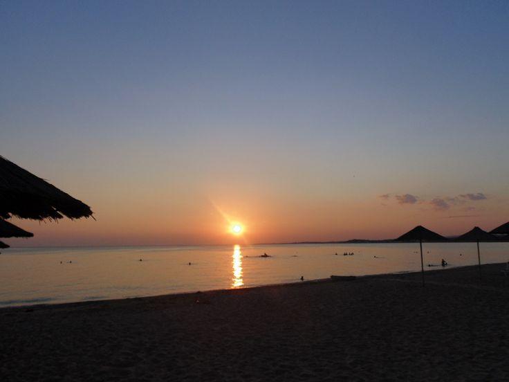 Sunset at #Halkidiki !!! View from our #Camping A Ouzouni #beach http://campingouzouni.com/