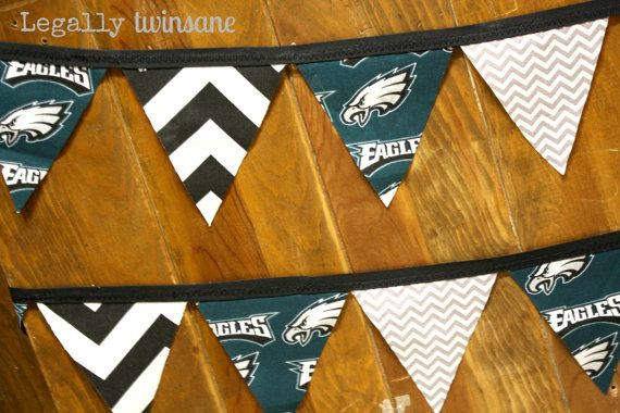 Bunting banner Philadelphia Eagles football by LegallyTwinsane, $12.00