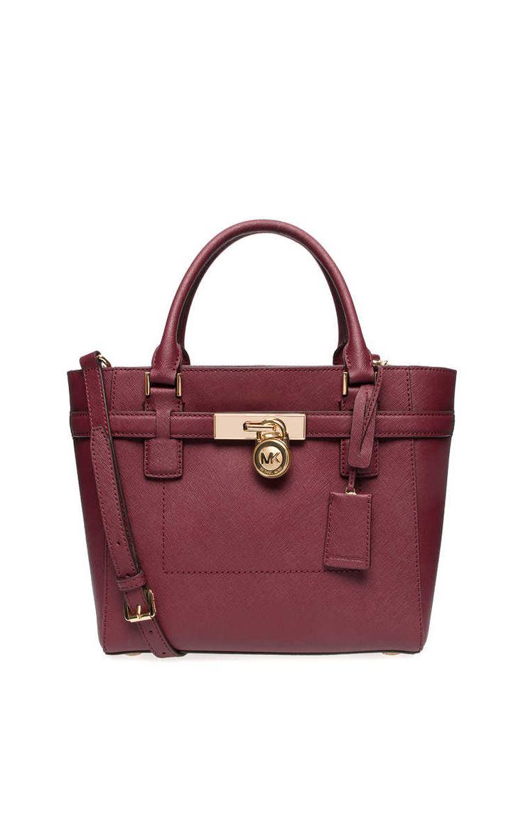 c97655dfea ... Large Leather Shoulder Handbag Bag Purse Merlot MichaelKors  TotesShoppers Handväska Hamilton MD TZ Tote MERLOT - Michael - Michael Kors  - Designers ...