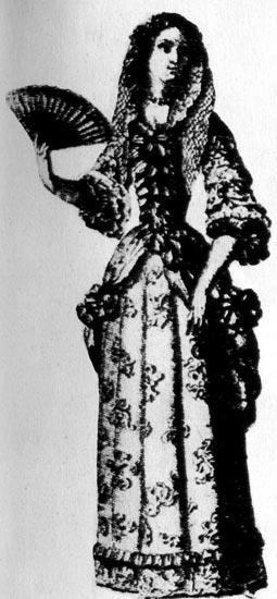 Женские костюмы эпохи людовика четырнадцатого
