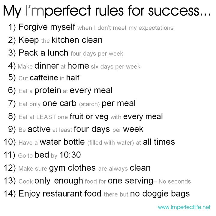 My Rules for My Success