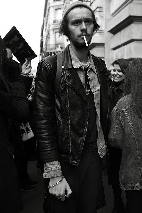 On the Street…..Crowded Parisian Sidewalk, Paris - The Sartorialist