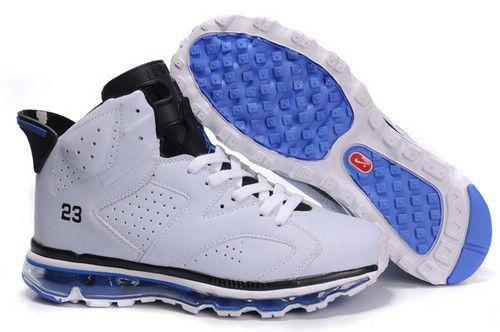 $95.97 Men's Nike Air Max Jordan 6 Shoes Grey/Black/Blue