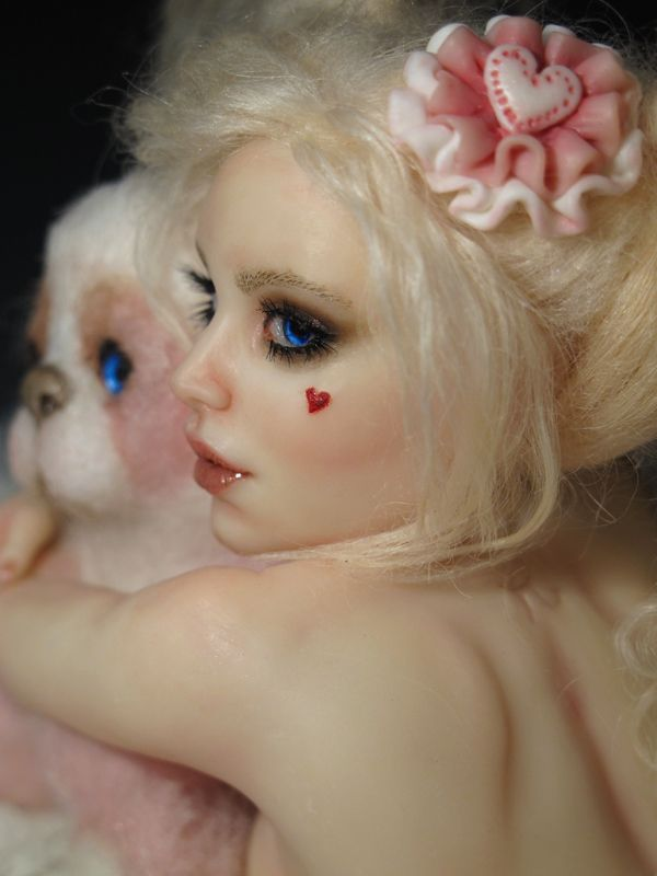 """OOAK """"Candy Pin-up"""" by Sara Rojo. She's listed on ebay right now: http://www.ebay.com/itm/-/162003285645?ssPageName=ADME:L:LCA:US:1123 Art Page: https://www.facebook.com/SaraRojoFantasyArt/"""