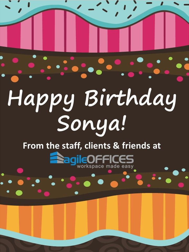 We would like to wish our General Manager - Sonya Moona a very - birthday card format for word