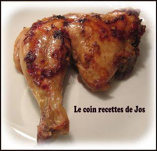 Le coin recettes de Jos: CUISSES DE POULET DÉLICE