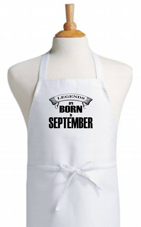 September themed bib kitchen apron  original design apron