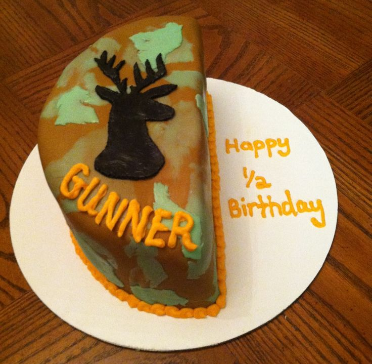 Half Birthday Cake For A 6 Month Old Camo