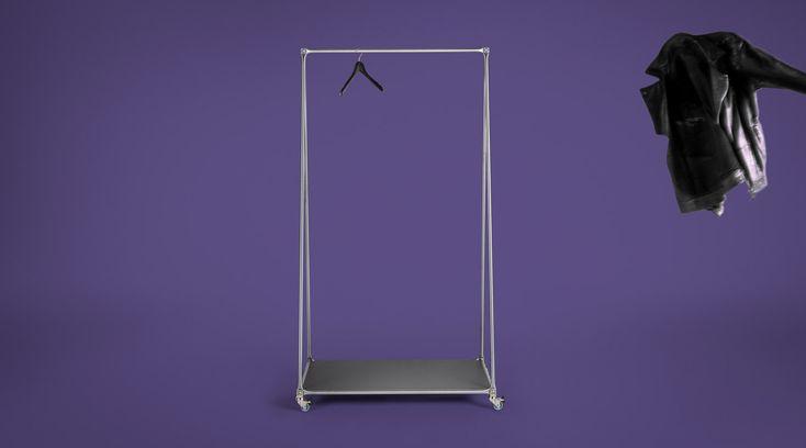 kleiderst nder i garderobenst nder i wardrobe i closet i rack i mobile i coat rack by system 180. Black Bedroom Furniture Sets. Home Design Ideas