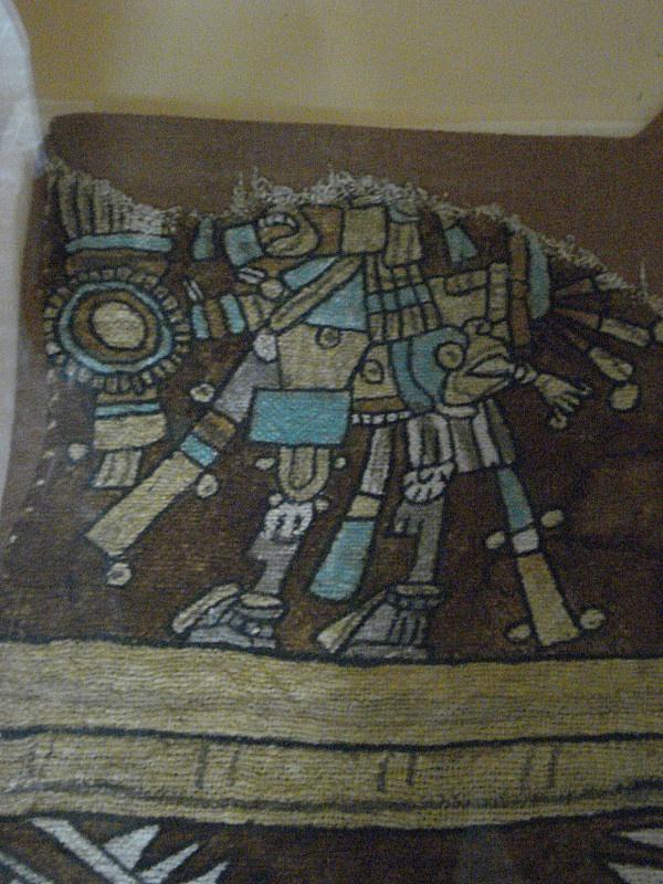 fragmento tejido antiguo museo Tuxtla Gutierrez, Chiapas