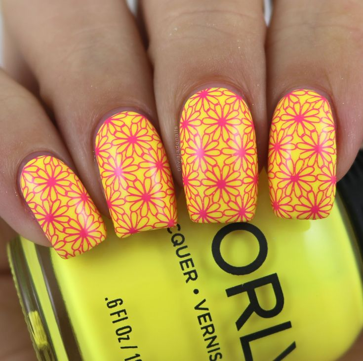 Nail Crazies Unite: Neon Flowers by Olivia Jade Nails