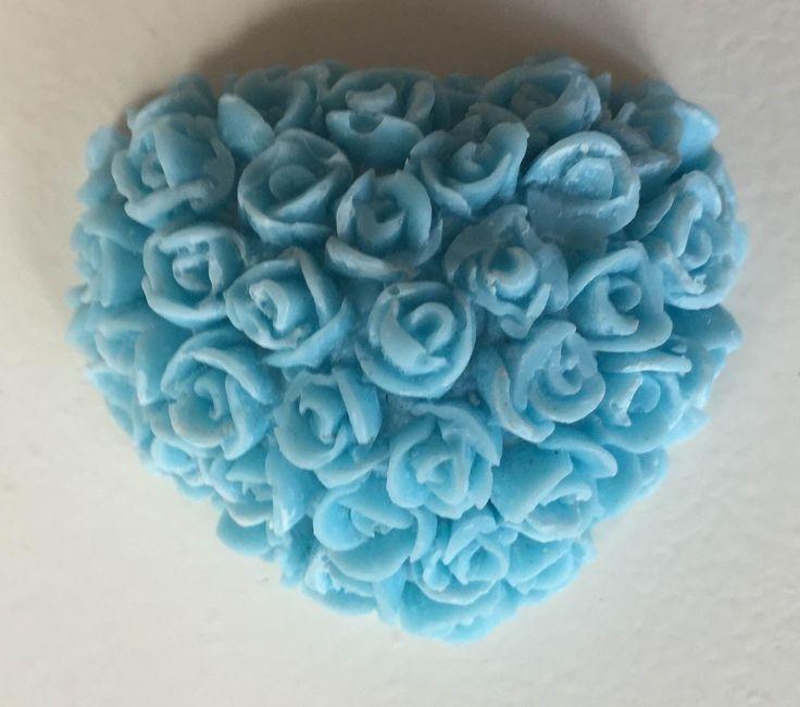 Rozenhart van wax blauw