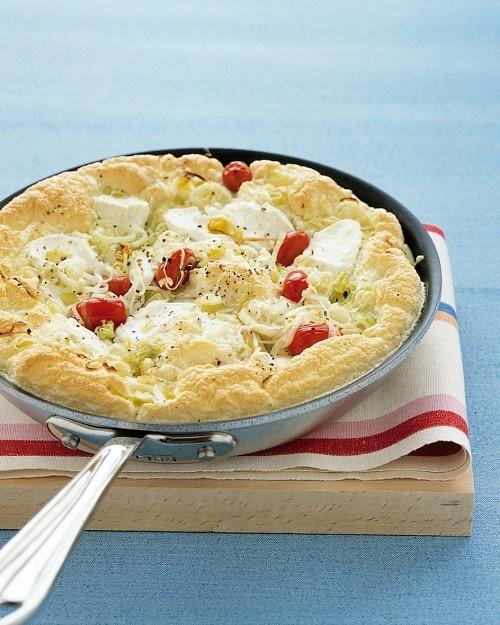 Tomato and LeekFrittataFun Recipe, Brunches Ideas, Eggs White, Mothers Day, Goats Chees, Martha Stewart, Brunches Recipe, Leek Frittata, The Secret