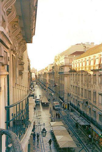 Rua Augusta Lisboa Portugal amanhecer by SeLuSaVa, via Flickr