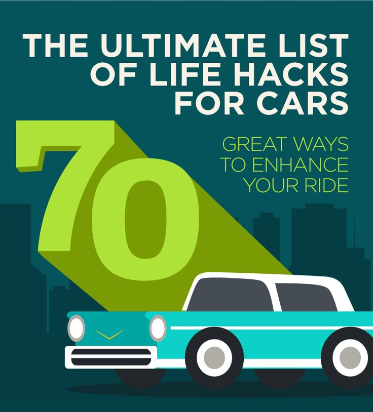 The Ultimate List of Life Hacks for your Car: 70 Great Ways To Enhance Your Ride