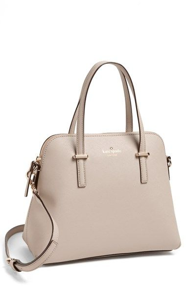 """Nordstrom - kate spade new york 'cedar street - maise' satchel in Clock Tower - $298.00 - Free Shipping, Item #698098, - Size: 10 ½""""W x 9""""H x 4""""D. (Interior capacity: small.) 5"""" strap drop; 18 ½"""" - 20"""" shoulder strap drop."""