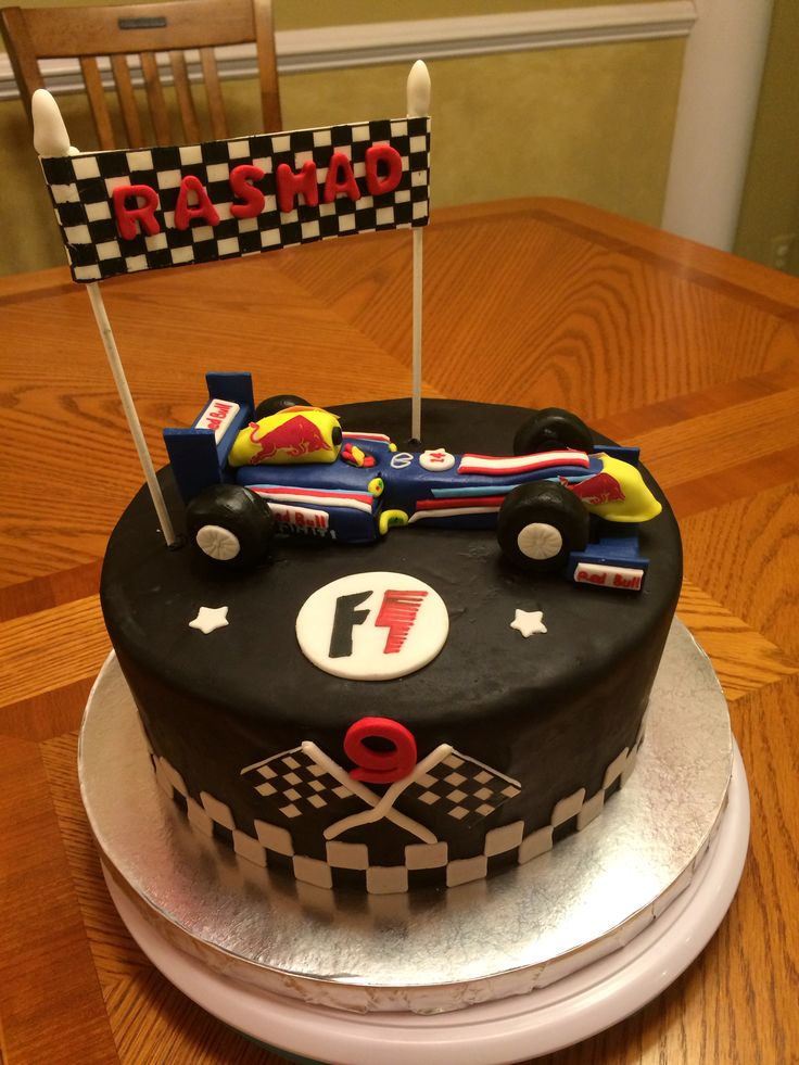 F1 Redbull Infiniti Race Car Cake Simply Cakes By Rini
