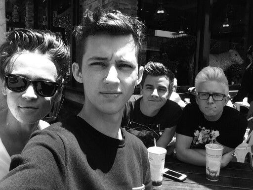 Joe Sugg, Troye Sivan, Connor Franta and Tyler Oakley