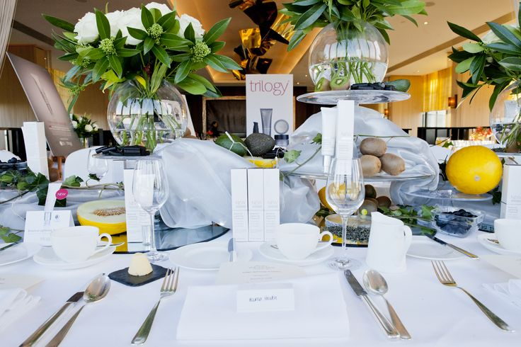 The beautiful table display at the UK 2013 Botanical Lightening Treatment launch