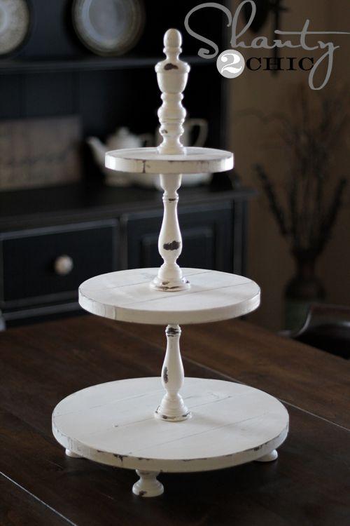 Como fazer - Torre para servir doces ou bolinhos