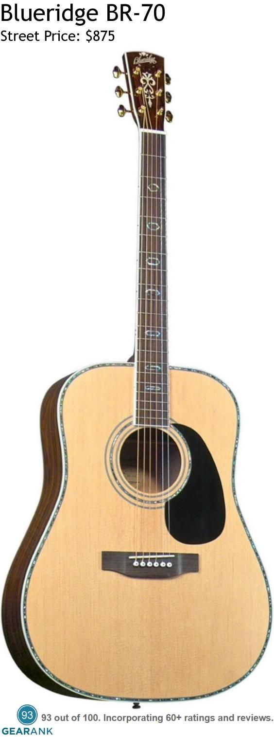 Blueridge BR-70.  This is the highest rated acoustic guitar in the $500 to $1000 price range. This guitar was  designed to produce traditional pre-war (1930's) dreadnought tones with an updated look. It features a Solid Sitka Spruce top and Select Santos Rosewood back and sides.  For a detailed guide to acoustic guitars see https://www.gearank.com/guides/acoustic-guitars