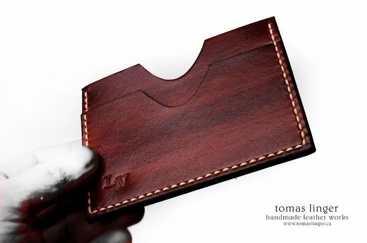 kožená pouzdro na kreditní karty