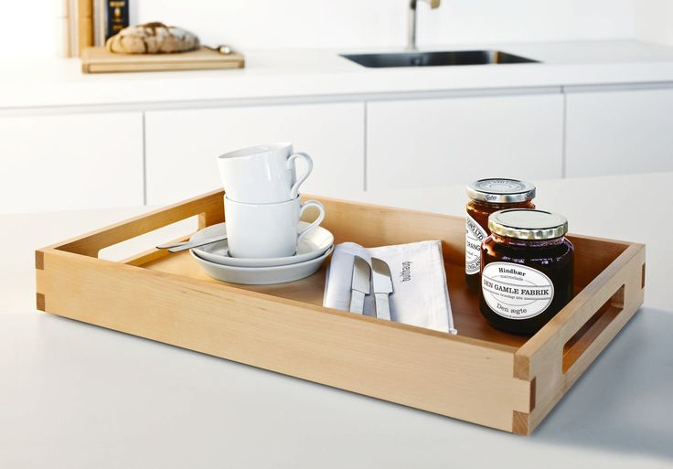 A beautiful bulthaup tray laden with breakfast goodies