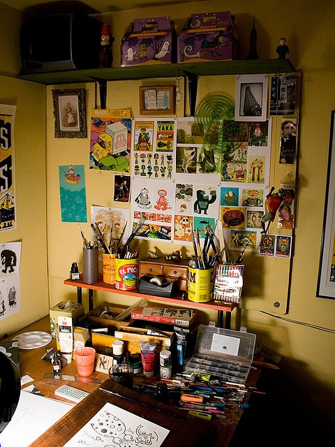 The analog room by Mr. Biggs ~ where art comes alive!  Loving the inspiration wall toO!