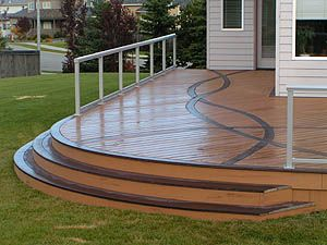 this deck design combines function and fun you could do this with quality materials from