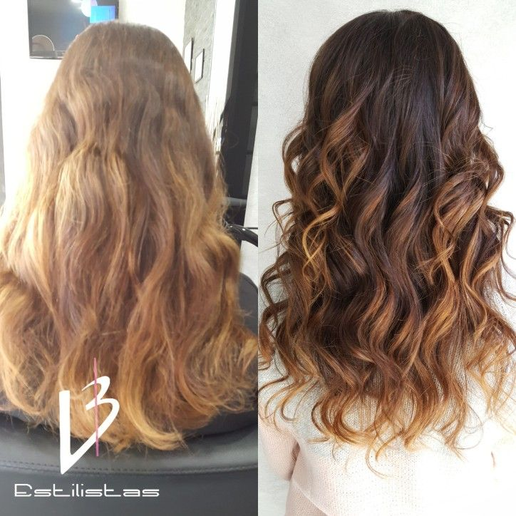 Balayage Brown-Caramel. Color Eco. Evolution Hc. Gloss Capilar.