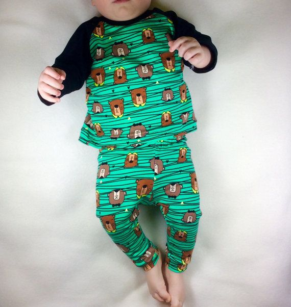 Organic baby clothes, baby boy clothes, Baby boy t-shirt and pants set, organic children's clothes, organic baby leggings, baby boy outfit