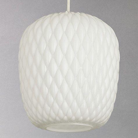 Buy John Lewis Blythe Glass Pendant, White Online at johnlewis.com