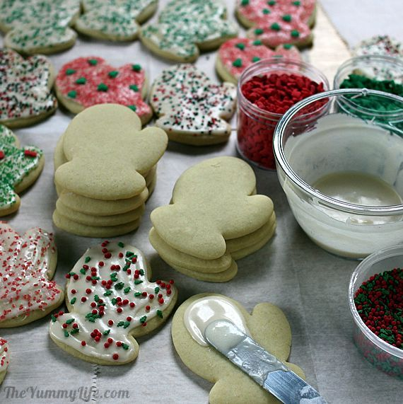 Sour cream soft sugar cookies and frosting that dries, but doesn't get hard.