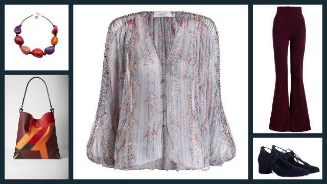 Playing Boho girl / А-ля хиппи Arcadia Braid Swing Top (made of pure silk, by the way) + Rhythm High Waisted Pants + Tie Mary Jane shoes, all by Zimmermann would look pretty well with Pink Tones Mix Vegetable Ivori Statement Necklace by LeJu and Sullivan Hobo bag by Rag & Bone #fashion #outfit #blouse #pants #shoes #zimmmermanwear #jewellery #necklace #lejudesigns #accessories #bag #ragandbone #мода #сочиняемнаряд #блузка #брюки #обувь #туфли #украшения #бижутерия #ожерелье #аксессуары…