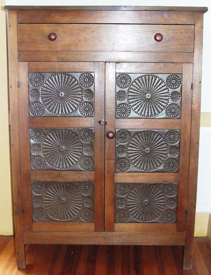Captivating Pie Cupboard With Tin Panels