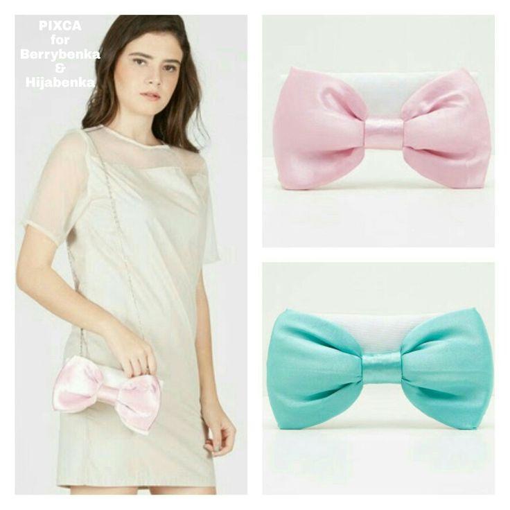 PIXCA baby ribbon clutches (slingbag )