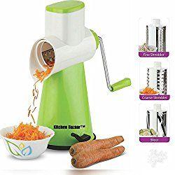 Kitchen Bazaar Premium Drum Grater Shredder Slicer For Vegetables,Fruits,Chocolates,Dry-Fruits ,Pasta Salad Maker