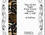 Peyote Bracelet Pattern, Animal Print, Tiger Eyes using Miyuki 11/0 Delica beads