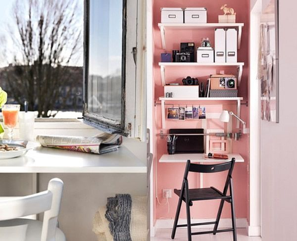 IKEA Norberg Tropfenblatt-Tisch im Einsatz als Rezeption und Frühstückstisch