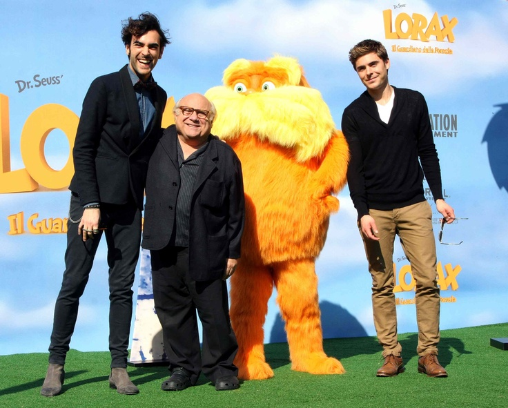 Marco Mengoni , Danny De Vito and Zac Efron are the voice cast of cartoon The Lorax (Dr. Seuss' )