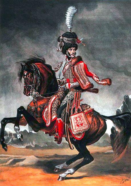 """Colonel du 4ème Hussards"", Sergei Letin"