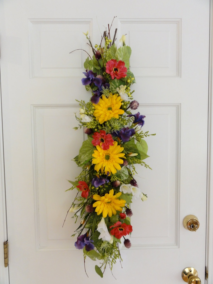17 best images about spring summer swags on pinterest Spring flower arrangements for front door