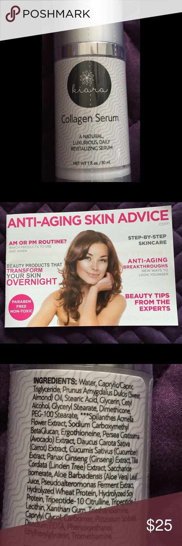 Kiara Collagen Serum Look younger with this Kiara Collagen Serum. Paraben Free, non toxic, comes with an anti-aging skin booklet. kiara Makeup