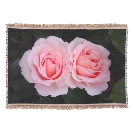 Dreamy Roses Throw Blanket by www.zazzle.com/htgraphicdesigner* #zazzle #gift #giftidea #rose #roses #pink #mothersday #throw #blanket