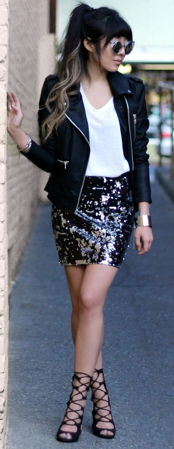 25 Twinkling Sequin Outfits to rock the Party Damn Hardly | Sequin Outfits | Party Outfit Ideas | Fenzyme.com