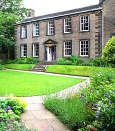 """Bronte Parsonage Museum. Emily, Charlotte and Anne wrote """"Wuthering Heights, Jane Eyre and Agnes Grey"""". In Church Street, Yorkshire."""